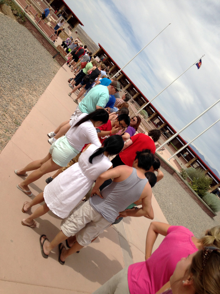 the line at four corners national monument