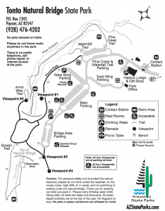 tonto-natural-bridge-park-map